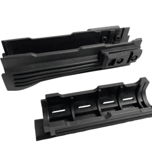 Tactical Black AK47 AK-47 AK74 AK-74 Rifle Lightweight Polymer Two-Piece Quad Weaver-Picatinny Rail Mount Handguard Forend Rail System