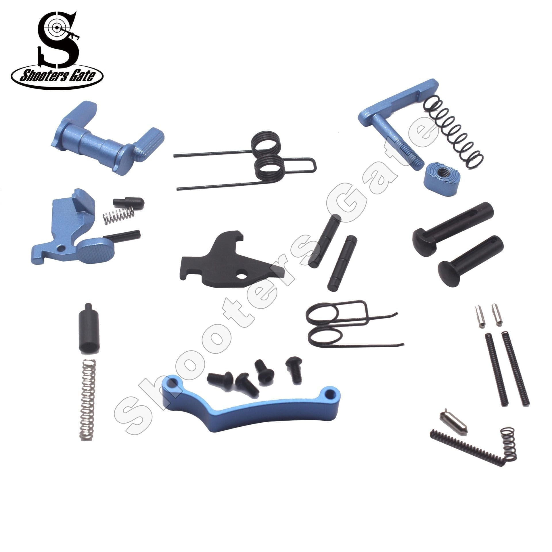 AR 15 33PCS LOWER PARTS KIT EXCEPT TRIGGER, HAMMER AND GRIP - BLUE