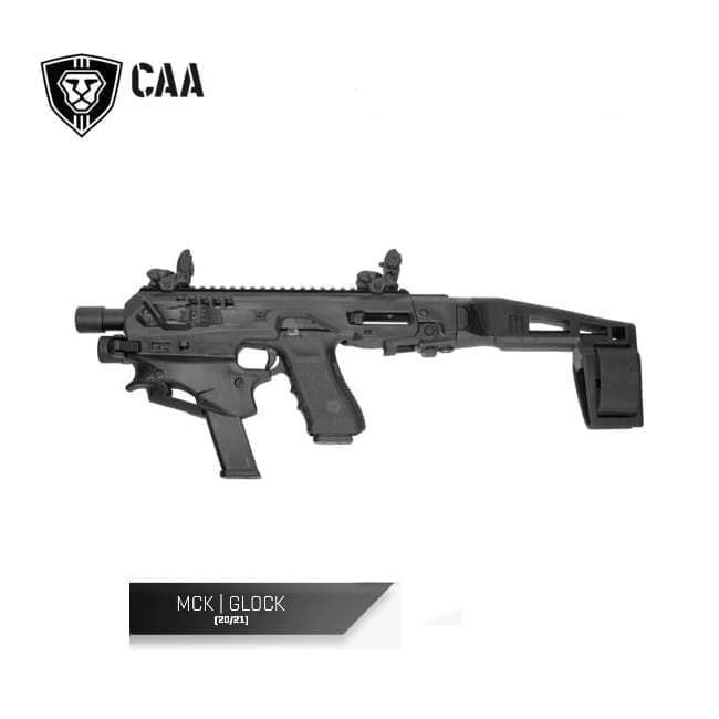 CAA Micro Conversion Kit for Glock 20/21, Long Stabilizer, Black