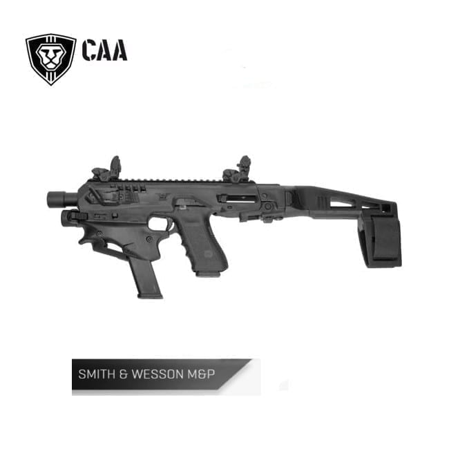 CAA Micro Conversion Kit for Smith & Wesson M&P 2.0 Full size/Compact size 9mm/.40, Long Stabilizer, Black