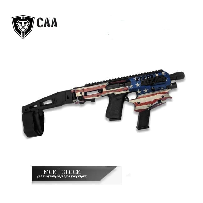 CAA Micro Conversion Kit for Glock 17/19/19x/22/23/25/31/32/45, Long Stabilizer, USA Patriot