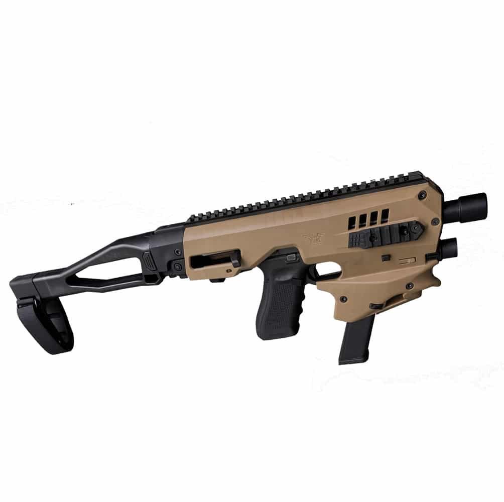 CAA Micro Conversion Kit 2.0 For Glock 17/19/19x/22/23/25/31/32/45, Long Stabilizer, FDE(Tan)