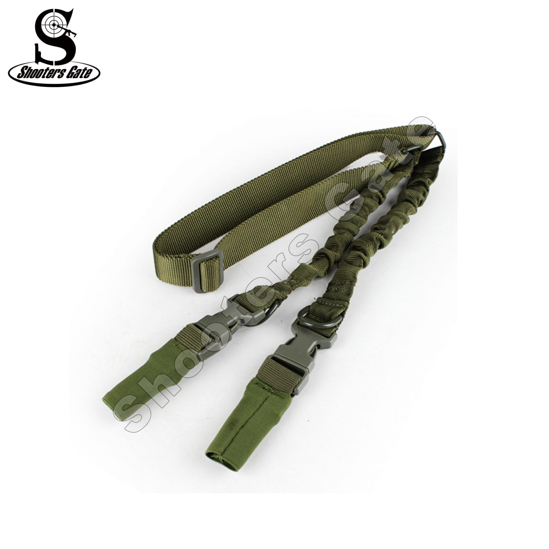 Shootersgate PRO QD Single/Double POINT Bungee Sling, OD Green