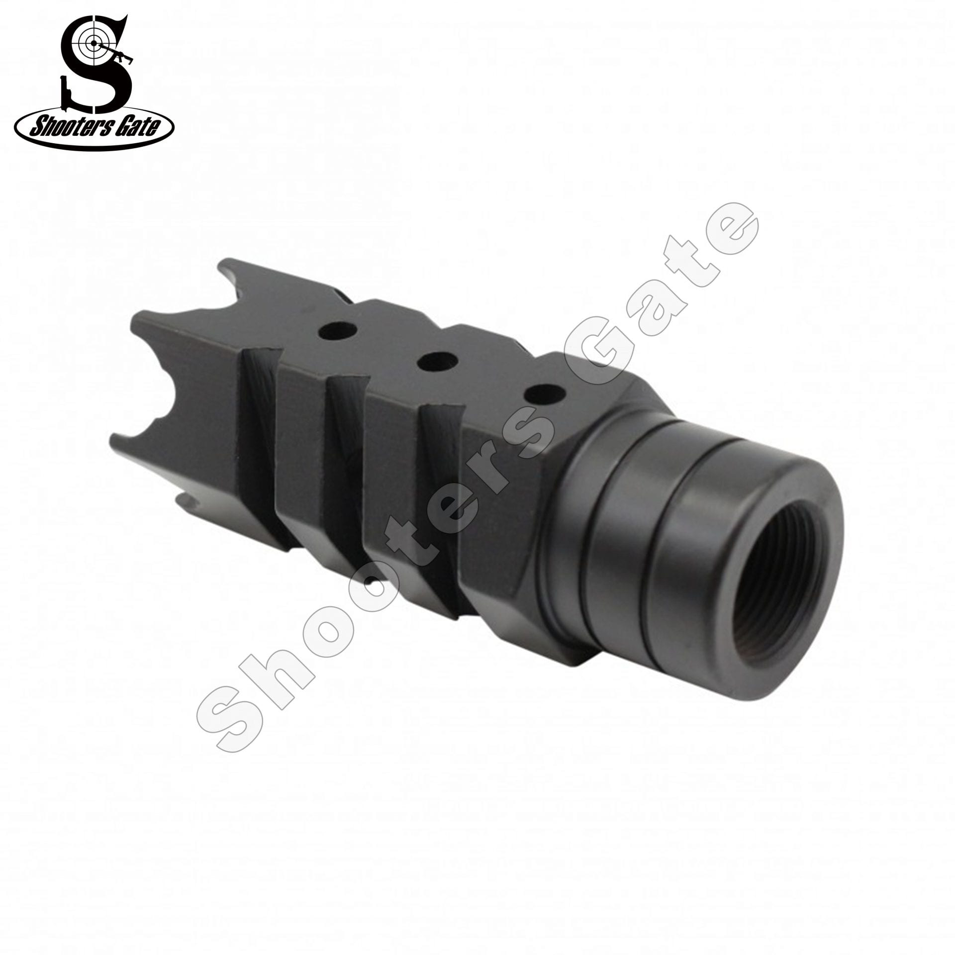 AR15/M4 .223/5.56 Muzzle Break 1/2x28 Thread, Black