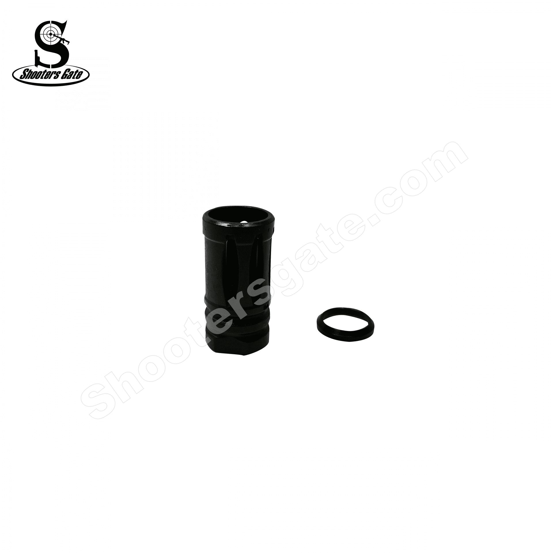 AR10 .308/AR15 300Blackout Birdcage with Crush Washer 5/8x24 Thread, Black