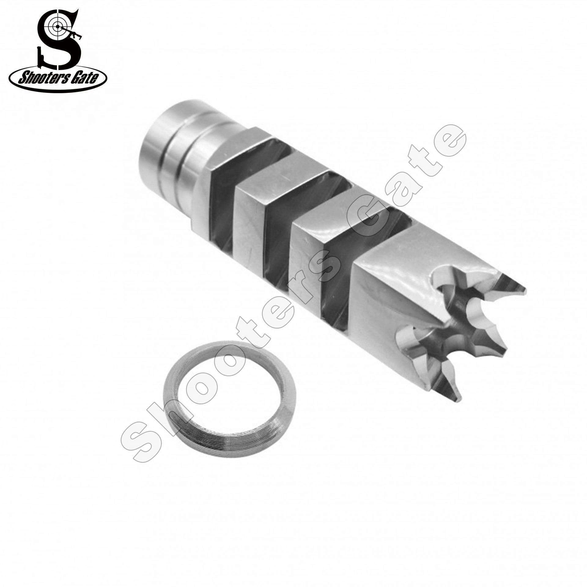 AR10 .308/AR15 300Blackout Muzzle Break 5/8x24 Thread S.S