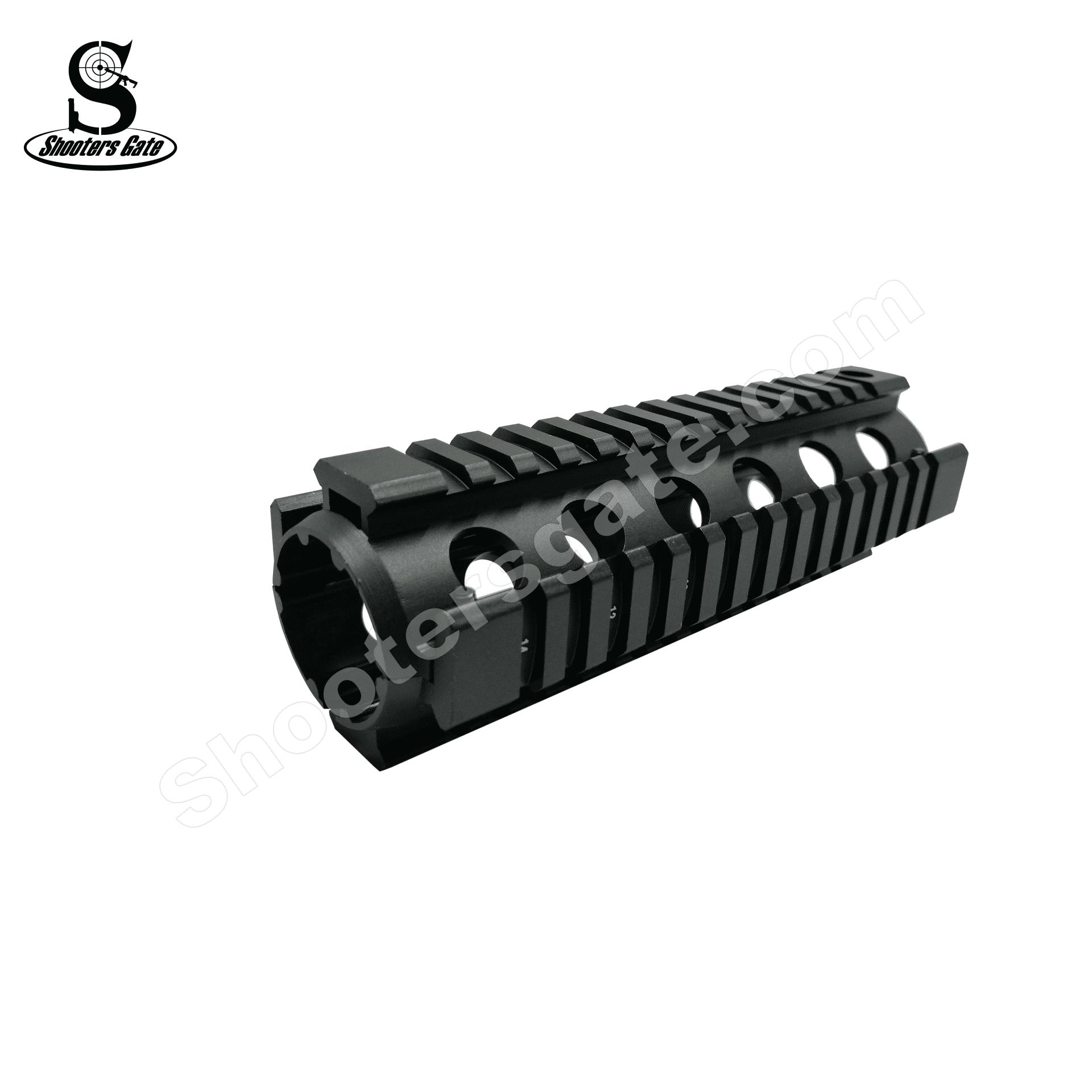 AR15 Two-Piece Drop-in Quadrail Carbine Length - Black