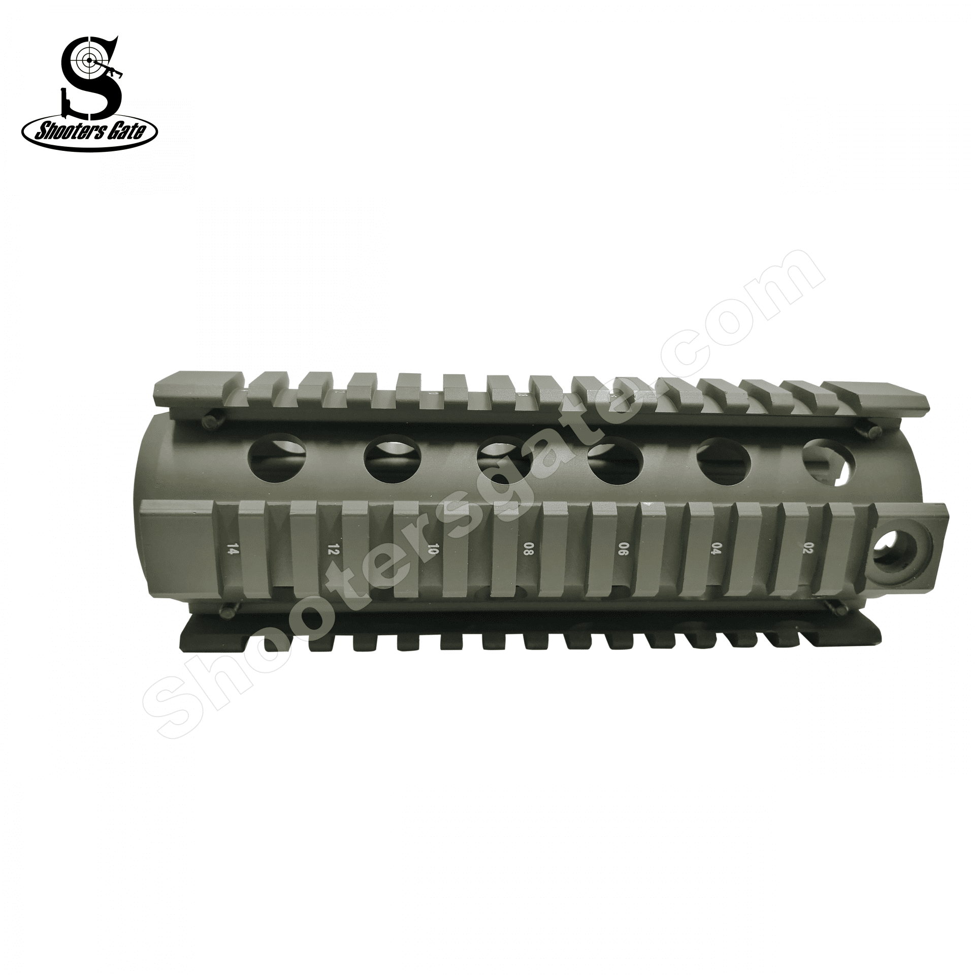 AR15 Two-Piece Drop-in Quadrail Carbine Length - OD Green