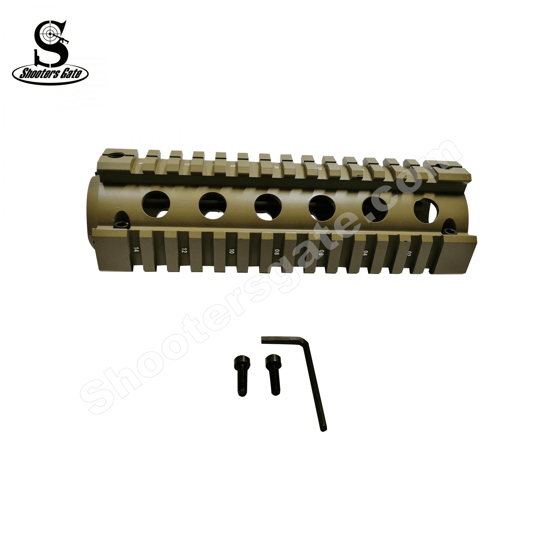 AR15 Two-Piece Drop-in Quadrail Carbine Length - Tan