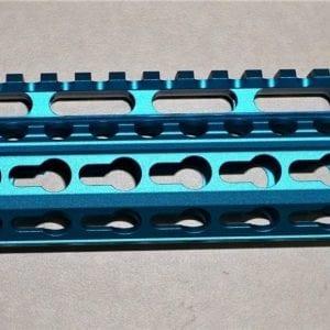 """AR15 12"""" Keymod Free Float Rail System with Steel Barrel Nut, Blue"""