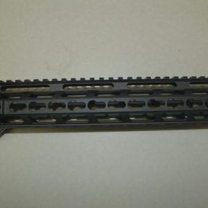AR15 12'' Keymod Free Float Rail System with Barrel Nut, Black