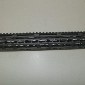 AR15 15'' Keymod Free Float Rail System with Barrel Nut, Black