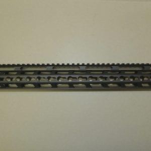 AR15 17'' Keymod Free Float Rail System with Barrel Nut, Black