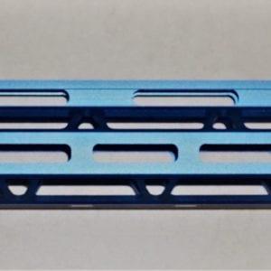 AR15 15'' M-Lok Free Float Rail System with Steel Barrel Nut, Blue