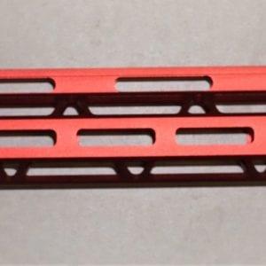 AR15 15'' M-Lok Free Float Rail System with Steel Barrel Nut, Red
