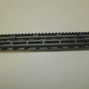 AR15 15'' M-lok Free Float Rail System with Barrel Nut, Black