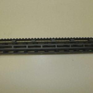 AR15 17'' M-Lok Free Float Rail System with Steel Barrel Nut, Black