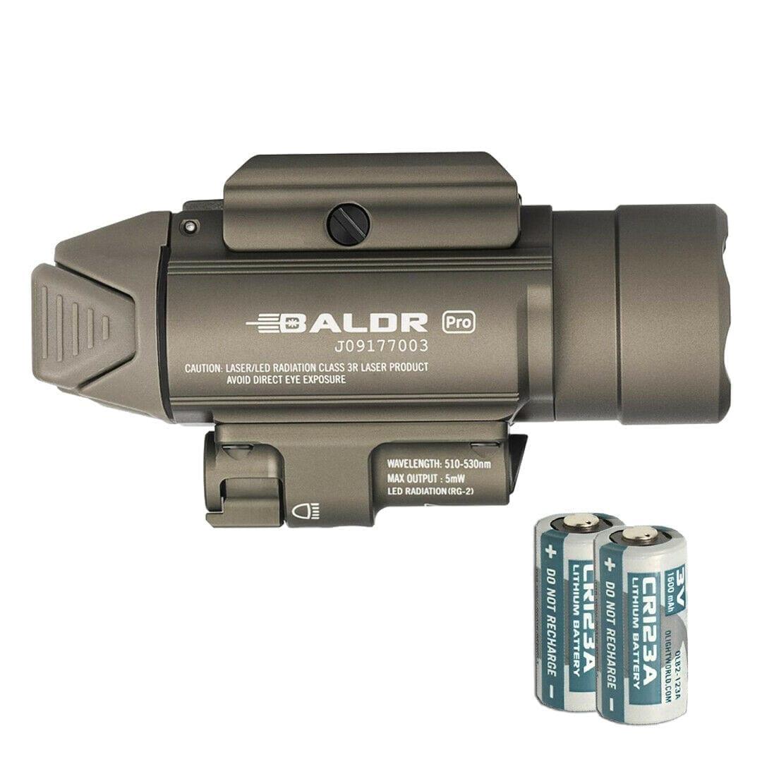 olight green laser combo, quick release , 1350 lumen, Cr123 battery, strobe