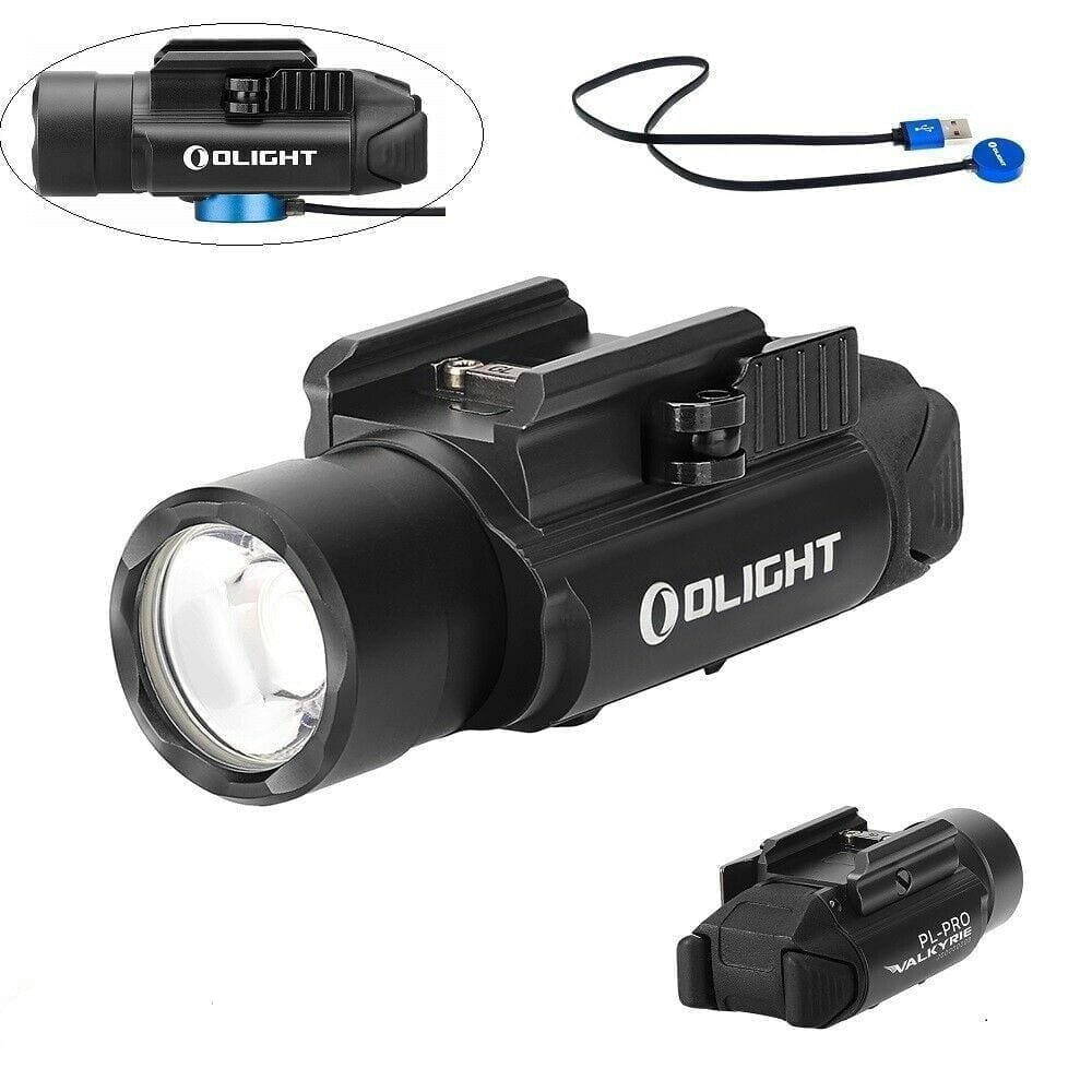 Olight PL-Pro Valkyrie 1500Lm Rechargeable Weapon Light, Black Color