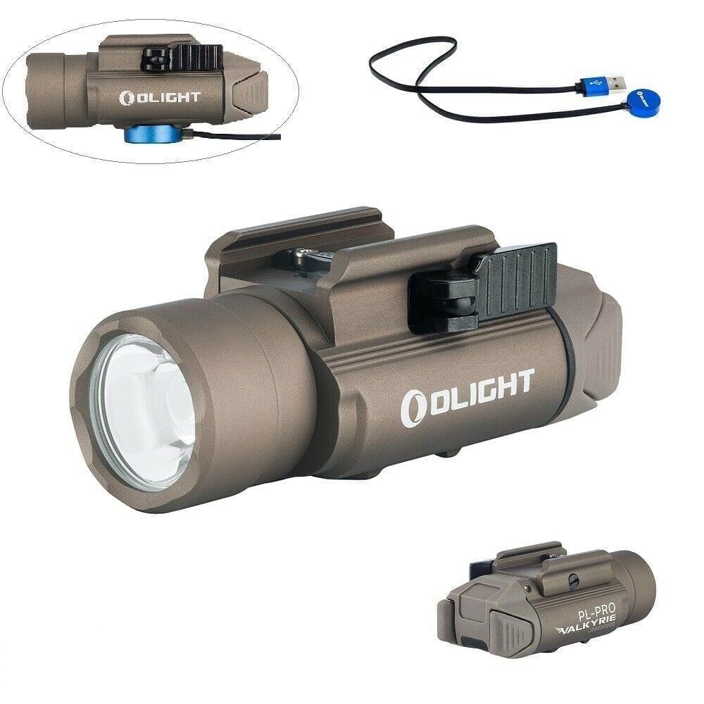 Olight PL-Pro Valkyrie 1500Lm Rechargeable Weapon Light, Desert Tan Color