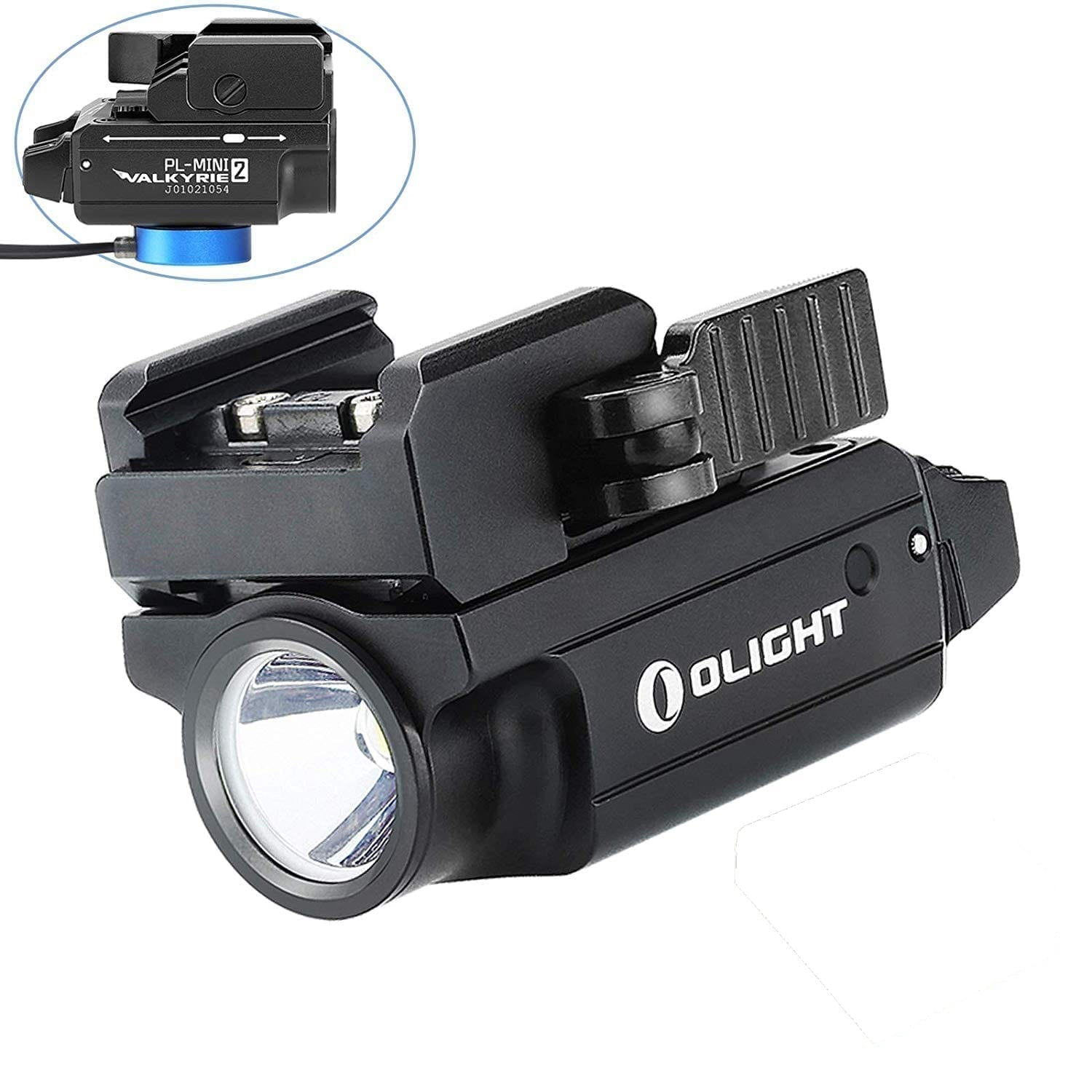 Olight PL-Mini 2 Valkyrie 600 Lumens Rechargeable Subcompact Weapon Light Black