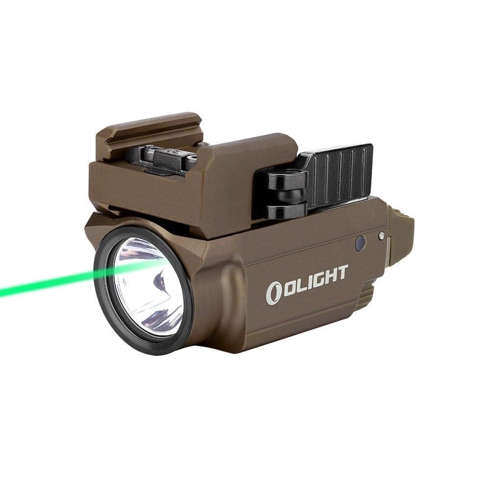 Olight Baldr Mini Subcompact Green Laser/Light Combo 600 Lumen Tan